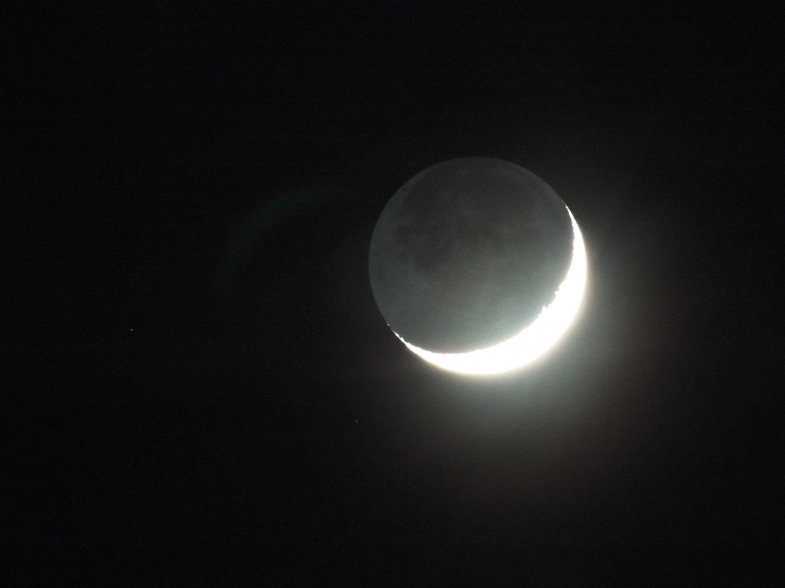 Last Night I Saw The New Moon with The Old Moon In Her arms.