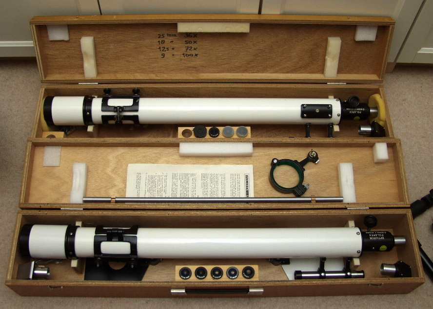 An embarassment of riches......my two Polarex 60mm refractors.
