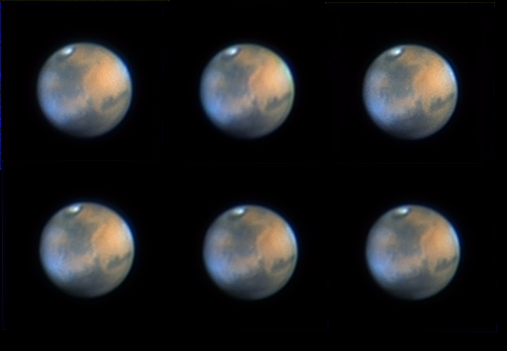 Mars March 24th 6 images.