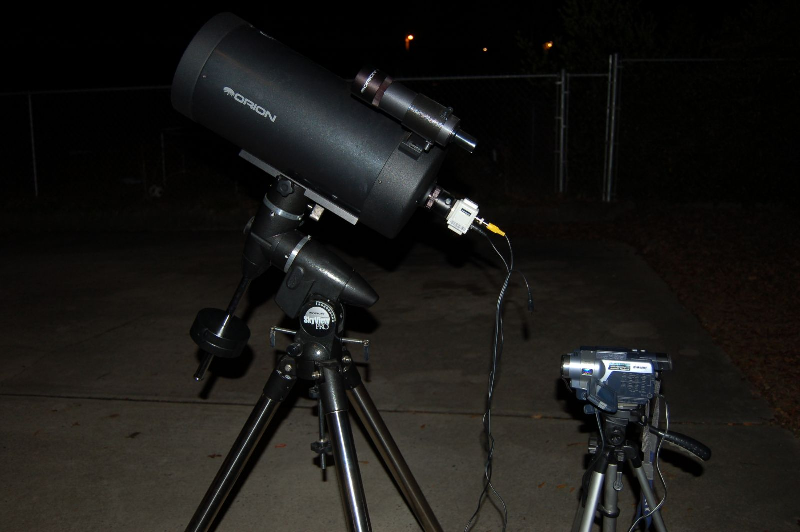 VIDEOASTRONOMY SETUP WITH ORION 180 MAK & DEEP SPACE VIDEO CAM 1 06 13
