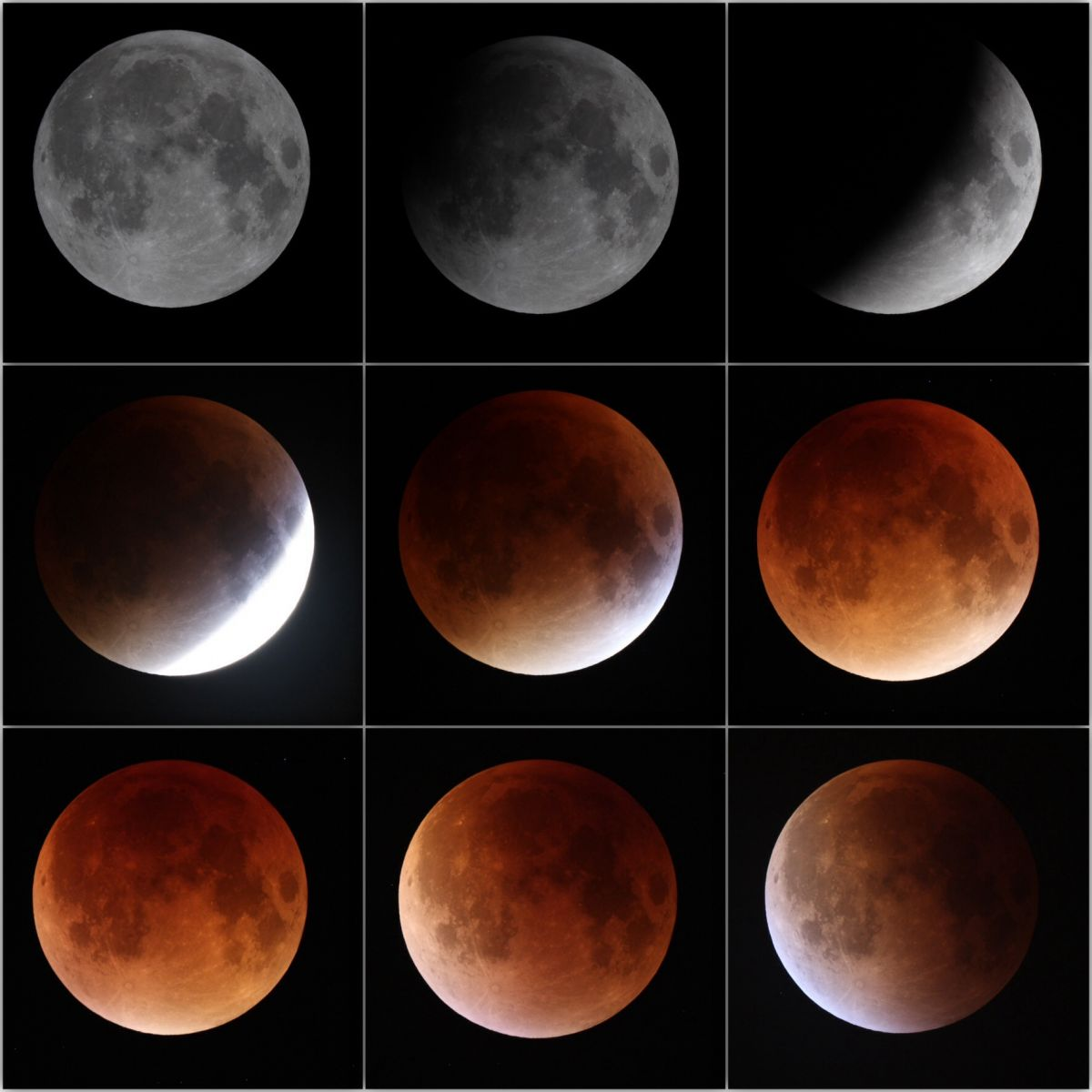 Montage of the lunar eclipse 28.09.2015