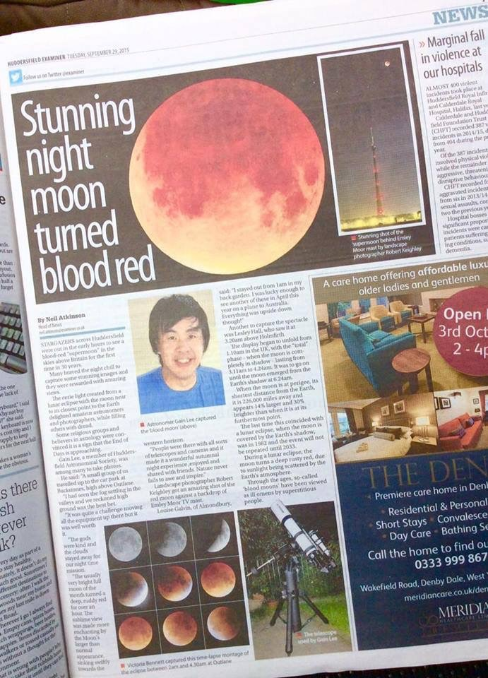 Montage in print in The Huddersfield Examiner 29.09.2015