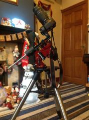 Canon 100D on SkyWatcher Star Adventurer with 8SE tripod base