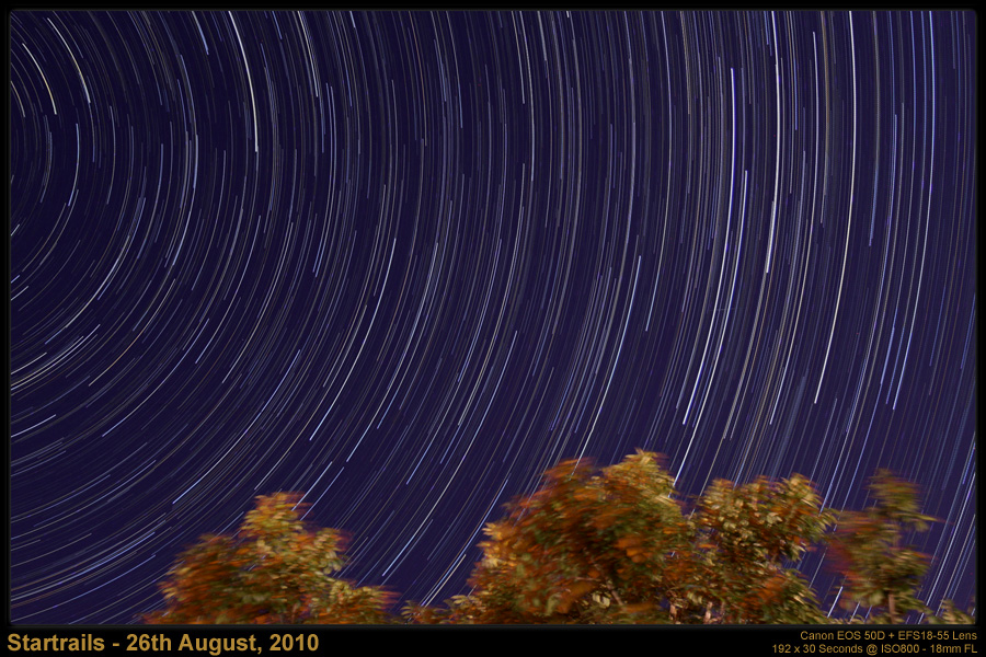 Startrails - 26th August, 2010