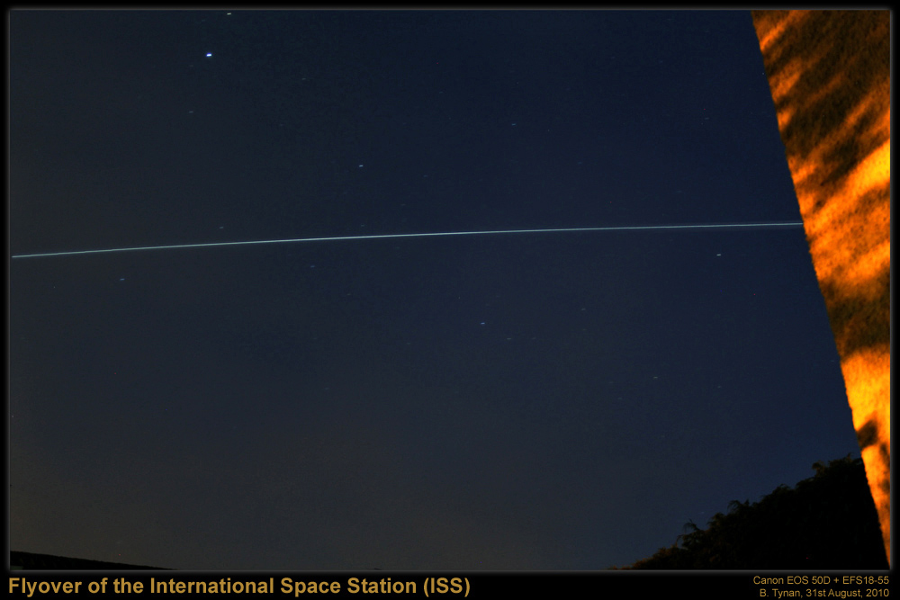 Flyover of the International Space Station (ISS) on the 31st August, 2010
