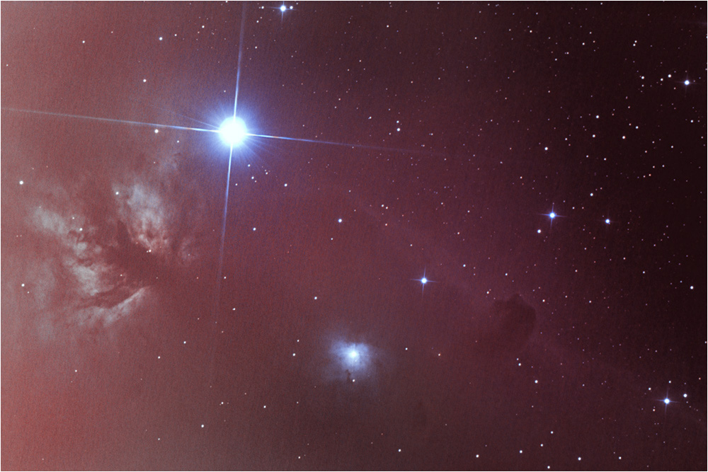 Flame Nebula and Horse Head