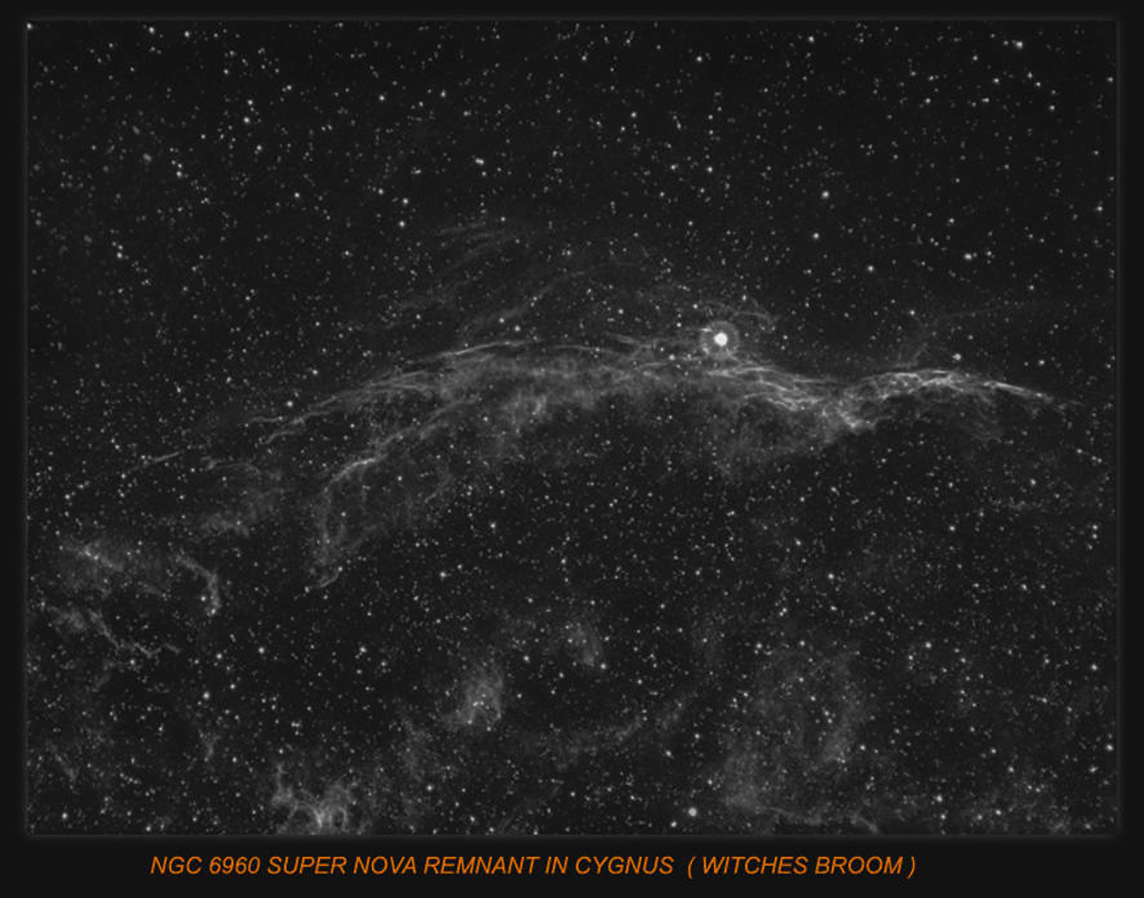 NGC 6960 THE WITCHES BROOM SUPER NOVA REMNANT IN CYGNUS.