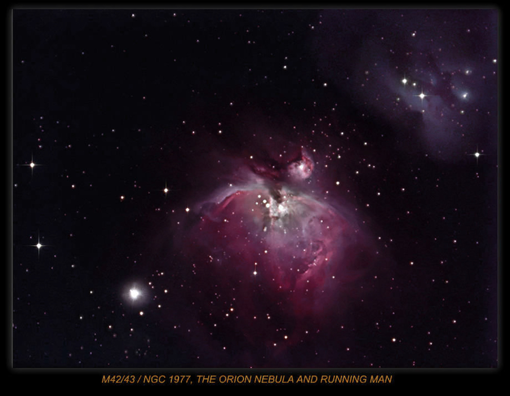 M42 NEBULA IN ORION,LRGB EFFORT .Taken with the Atik 16Hr ccd ,Imaging Scope Equinox 80, Guide Scope  Celestron GPS 8.