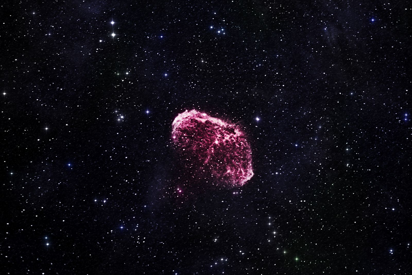Crescent Nebula Ha colour  version