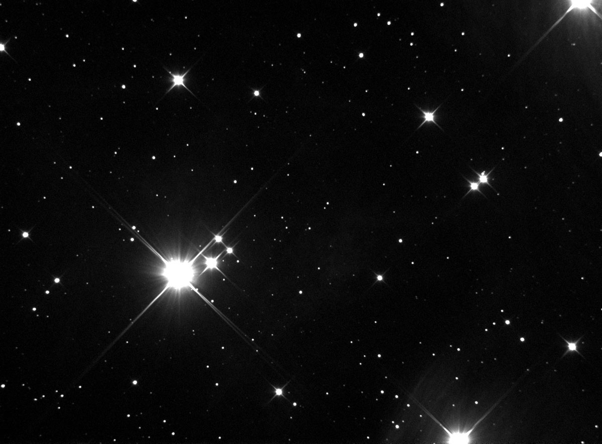 M45 1x15 second sub.  Luminance.  Again waiting for the clouds to go away.