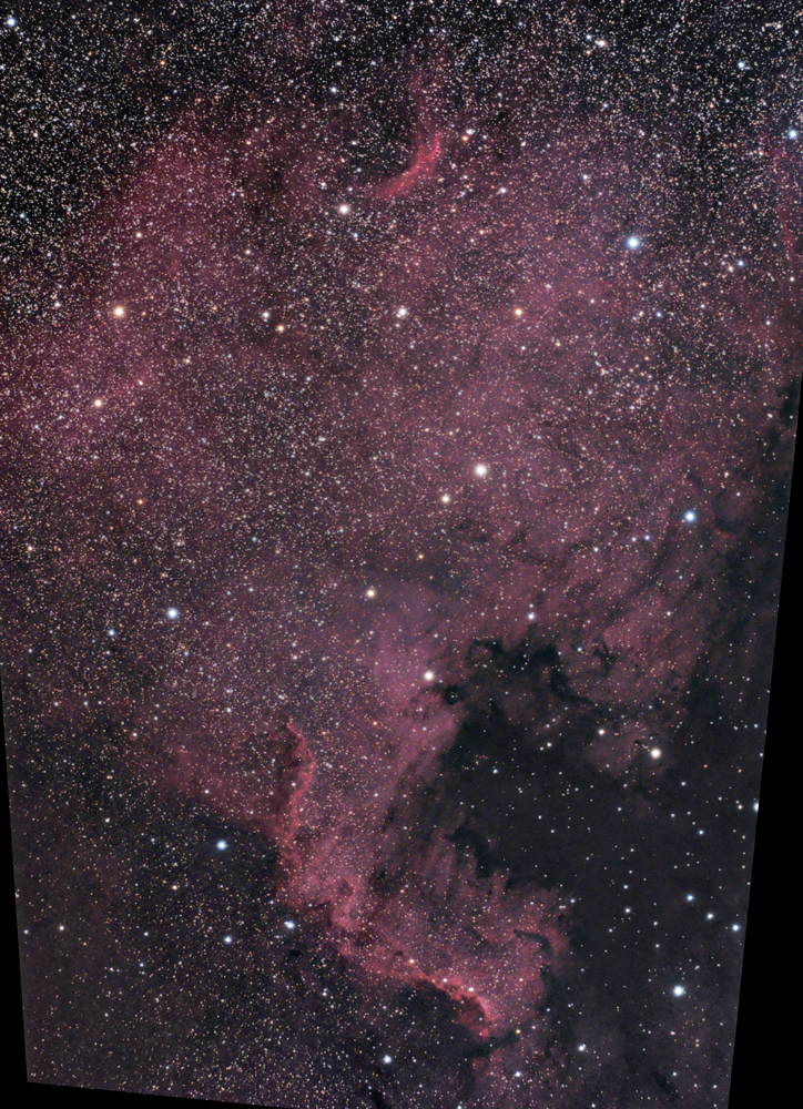 NGC7000 combined sessions with RegistarTMB105 APO and QHY8Atik 383 and 80mm WO TMB APO