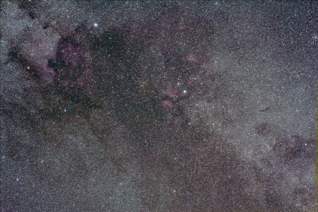 NGC7000 and Sadr RegionCanon 550D and 70-200mm F4 L series Lens6 x 5 minutes Exposure