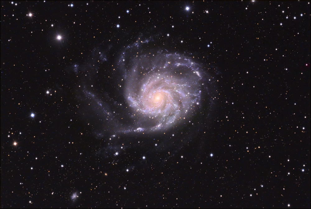 M101 LRGB  March 2010 from Les Granges
