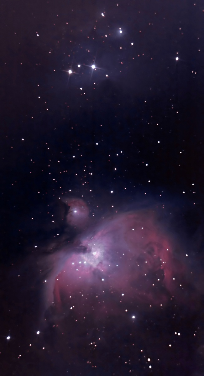 My last Orion before I overhaul my mount. Better framed than the last, and you can just about make out the running man if you look really closely. 70x30sec, 10x10 for the core, etc.