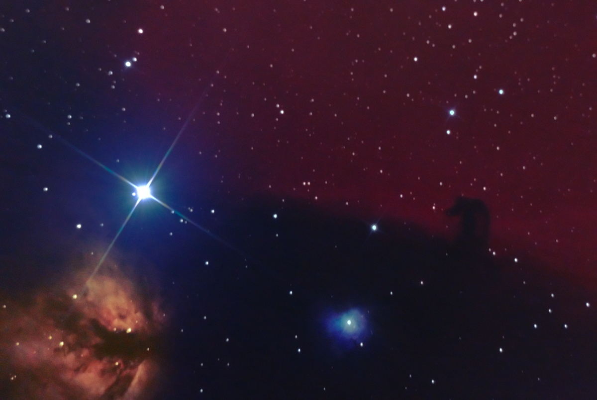 nth reprocess of horsehead! Horrible clinical looking thing this is! I should delete it, but I want a record of all my images, so I'll leave it!