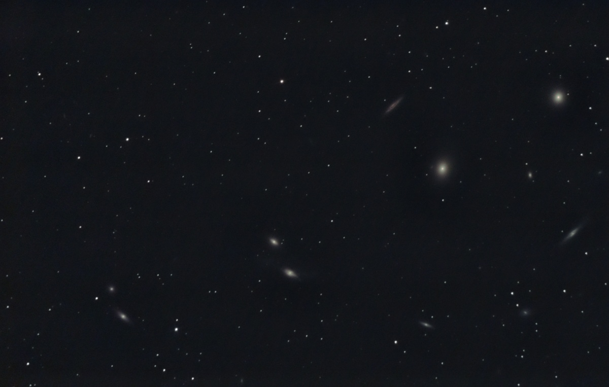 Galaxy cluster in Virgo