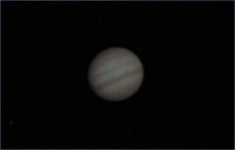 First real attemp at Jupiter. Conditions were windy and cold here in Toronto. Still, I am happy with this result. Hope next time I can bring more detail and share it with you folks. I used my CGEM 9.25. Camera. qhy5v. Exposure 5ms. avi 45 seconds process