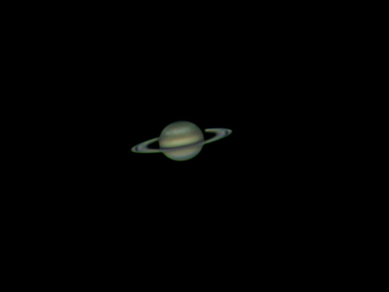 Saturn 8th March 2011. Imaged with a Phillips SPC900 webcam, 250mm f4.8 Newtonian, 5x TeleVue Powermate