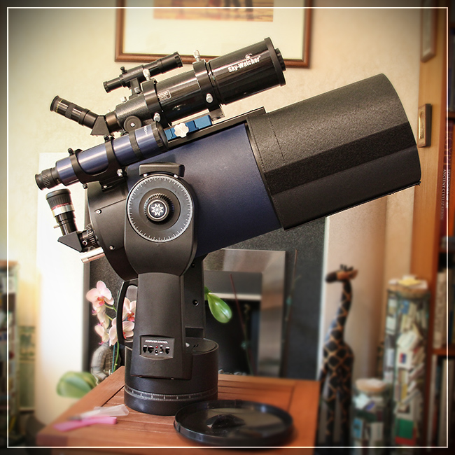 Telescope with stuff on it