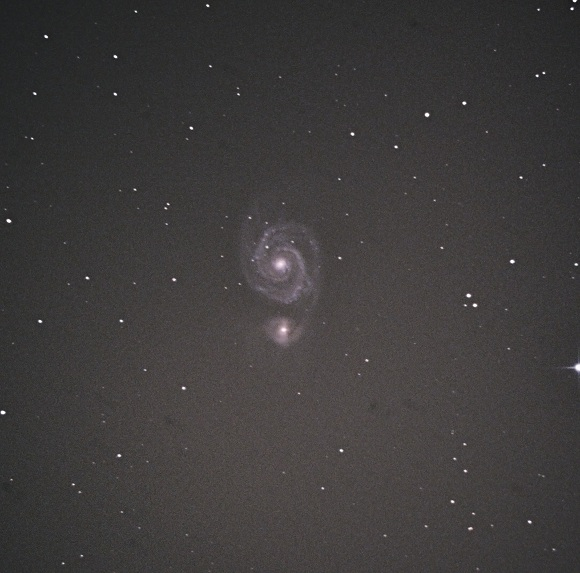 8x1 min subs on m51 with darks