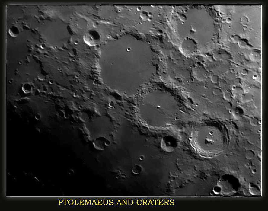 PTOLEMAEUS and CRATERS,Taken with the ATIK 2hs, processed in Photoshop