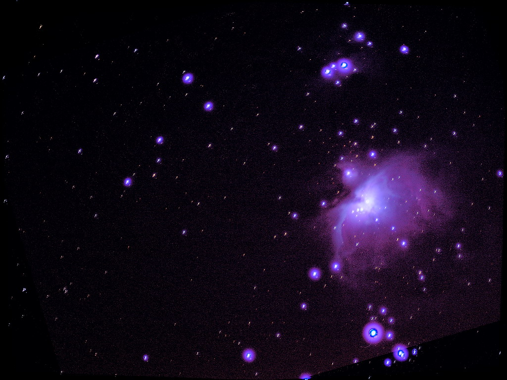 m42 1024 DSS 1min x 20 Images Sky Watcher 102 with SynScan Tracking with Olympus E410