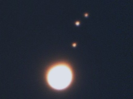 Jupiter, Europa, Ganymede and Callisto, Fist attempt at Planetary photography, not great I know but its a start lol