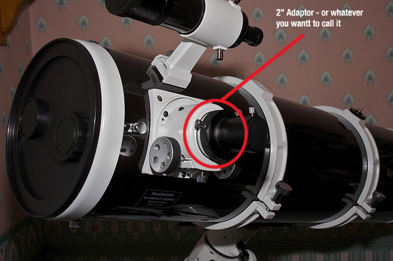 how to connect canon dslr to barlow eyepiece and telescope