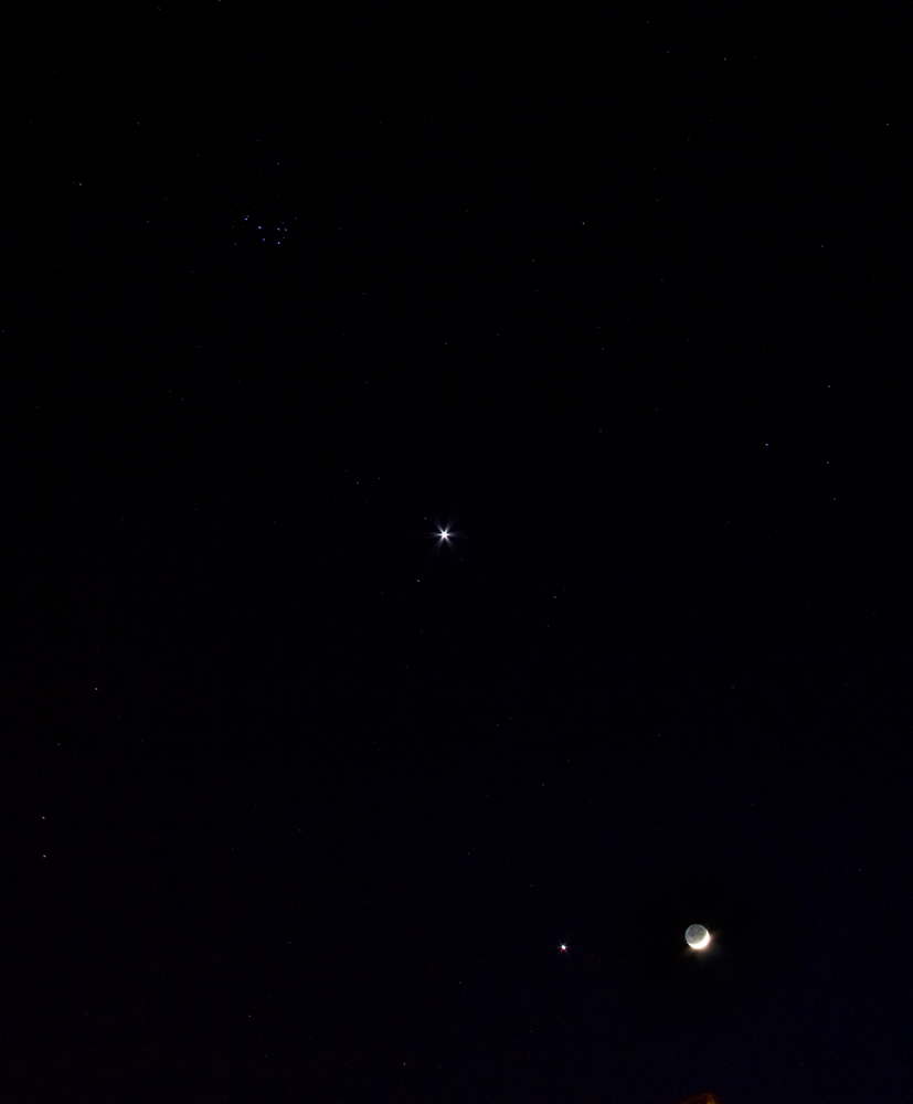 Moon Jupiter Venus & Pleiades - Imaging - Widefield, Special Events and Comets - Stargazers Lounge