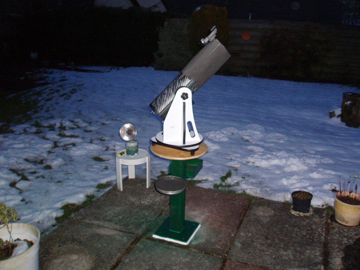 Diy observing table diy astronomer stargazers lounge for Table th scope