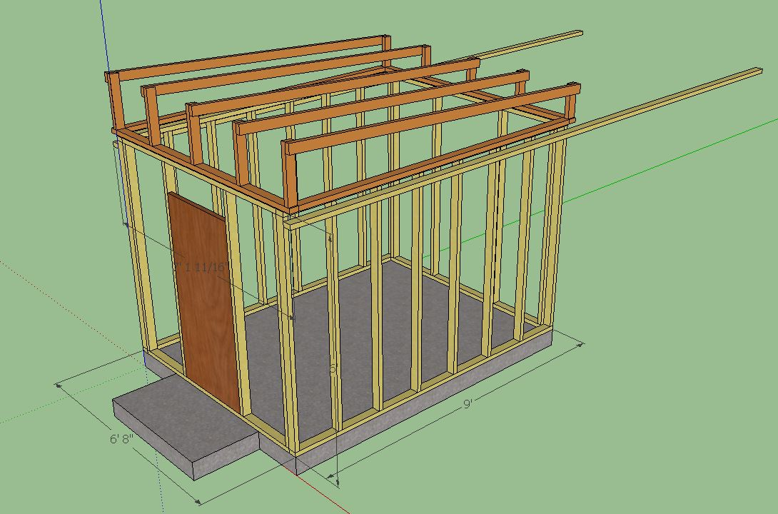 Image Result For Sketchup Shed Plans Fora