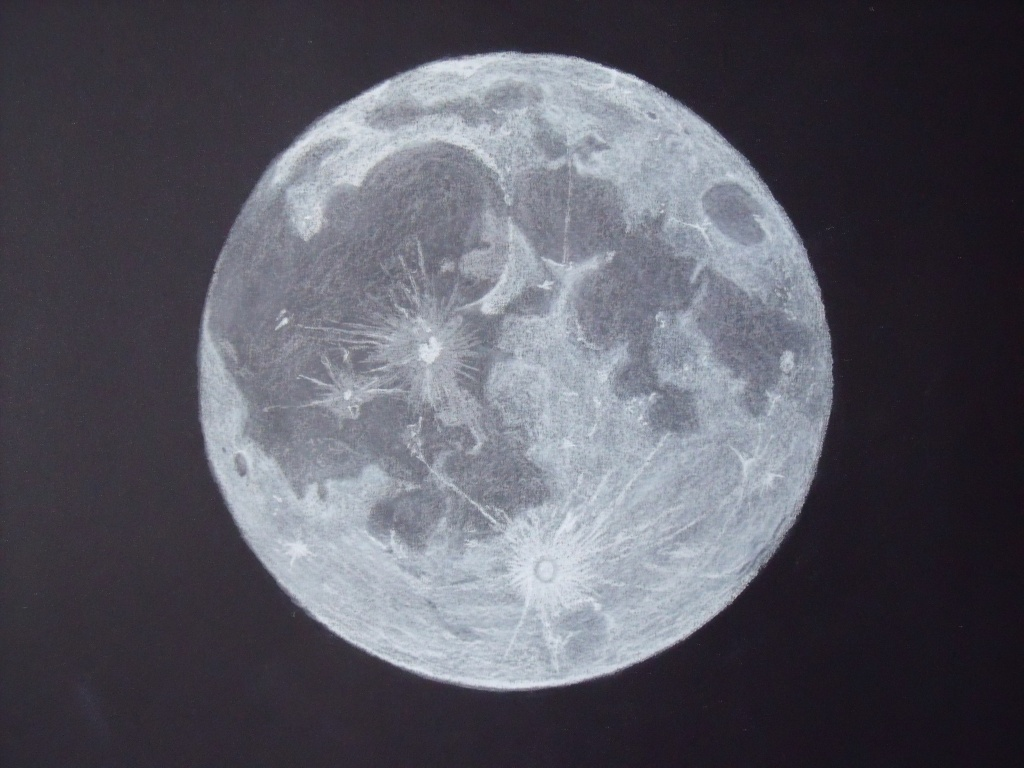 It is a picture of Impertinent Drawing Of Moon