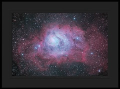 The Lagoon Nebula ( Messier 8, NGC 6523 ) in Sagittarius