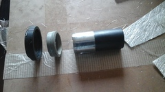draw tube bush and t ring ready to go together