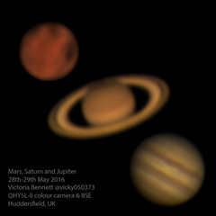 Mars, Saturn and Jupiter 28.05.2016