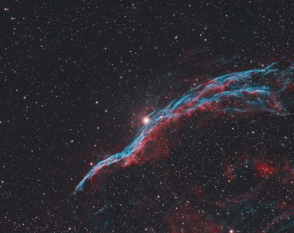 Veil nebula in narrowband NGC6960 Sept16 .jpg