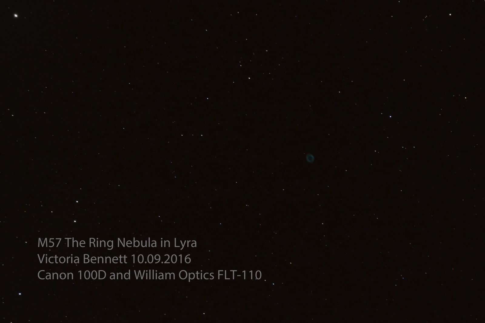 M57 The Ring Nebula in Lyra 10.09.2016