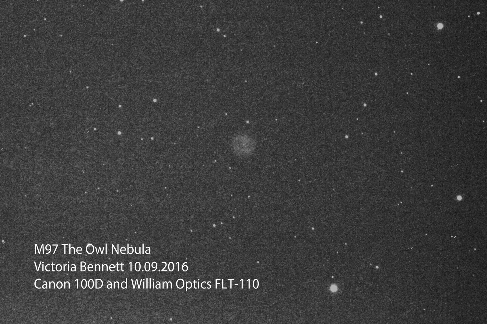 M97 The Owl Nebula 10.09.2016