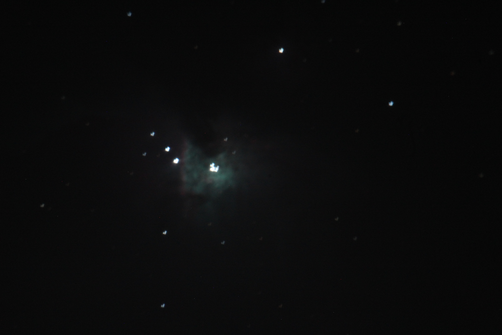 Orion Nebula manual RA tracking - one of my best first DSO attempts. (5 second exposure)