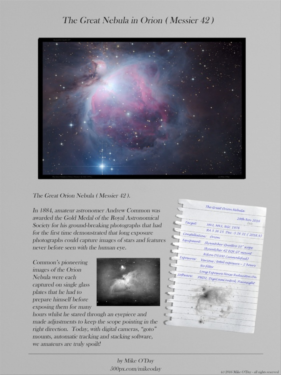 The Great Nebula in Orion( Messier 42, NGC 1976 ) - Scrap book page 2048 x 2732 compressed.jpg