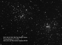 NGC869 & NGC884 The Double Cluster 17-12-2016