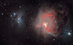 Orion & Running man with modded 1200d & CLS filter
