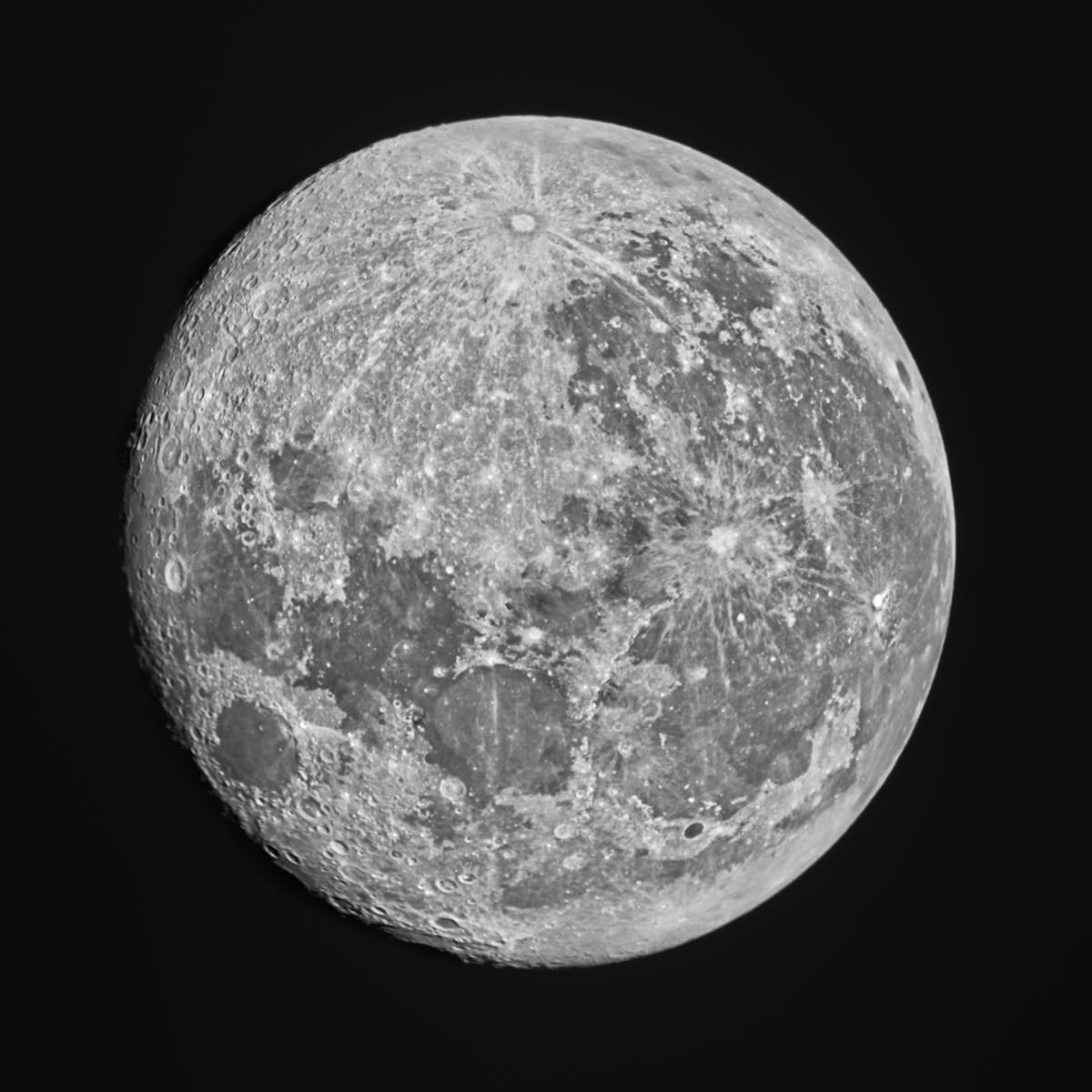 97% Moon in H alpha