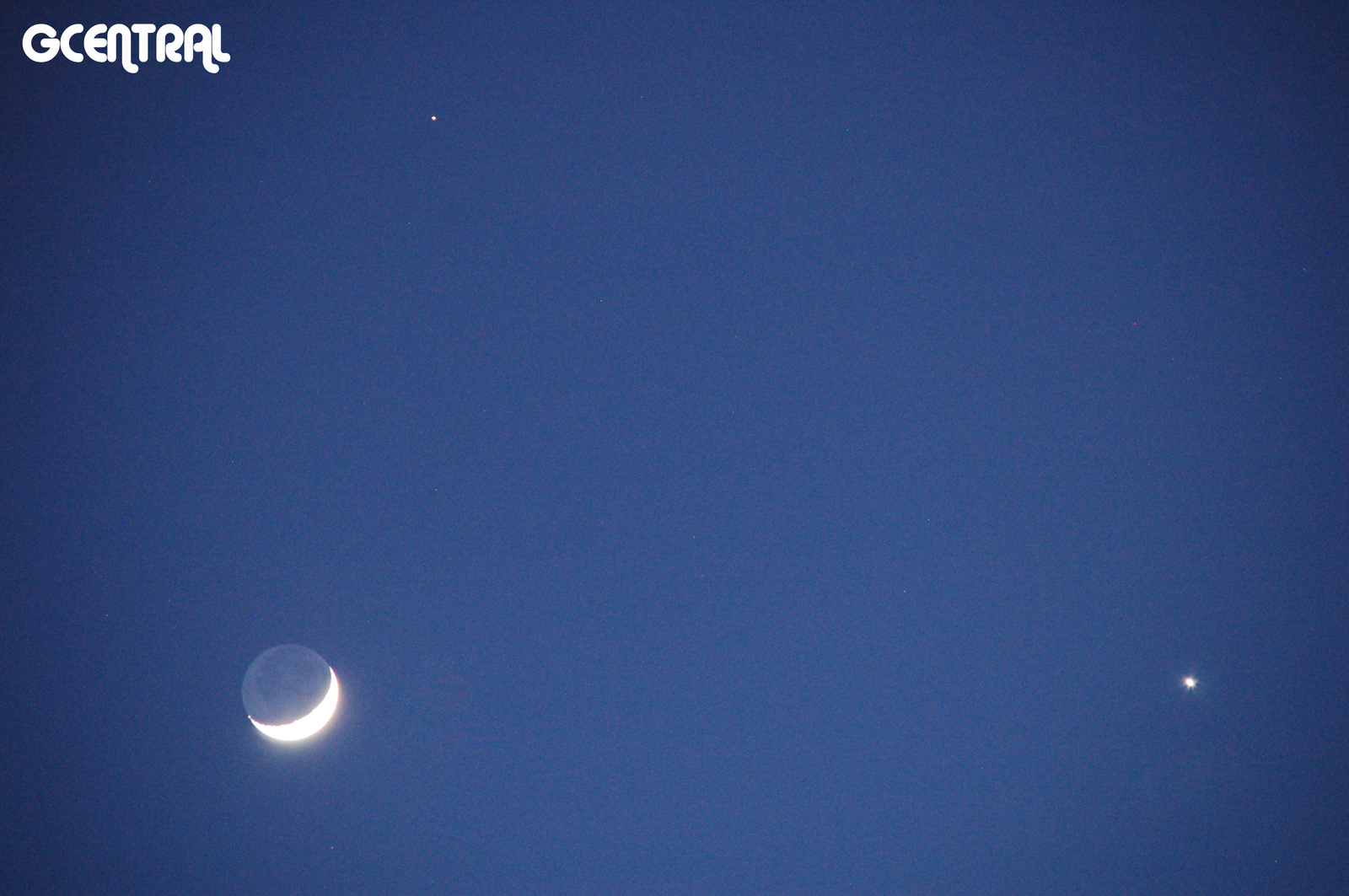 Mars, Waxing Crescent & Venus Conjunction Jan. 31, 2017