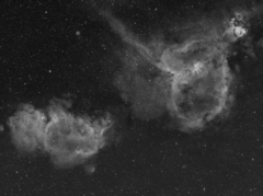 Heart and Soul Nebulae (IC1805 & IC1848)
