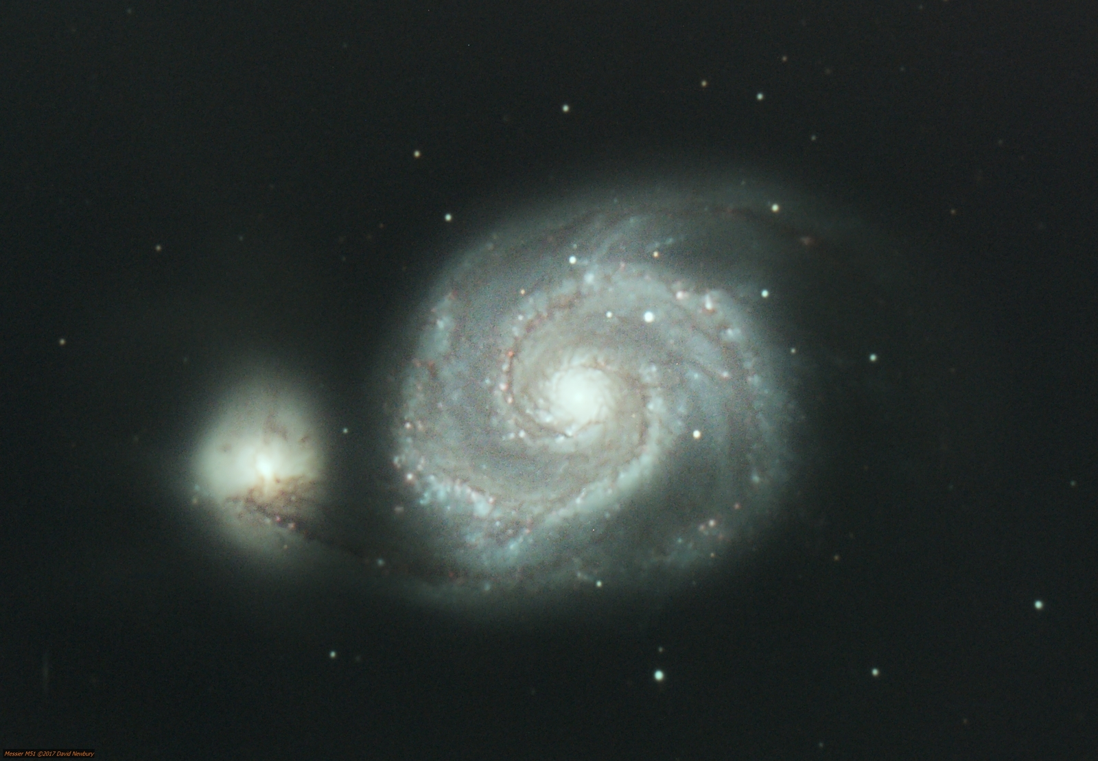 M51 over several nights over February and March 2017.