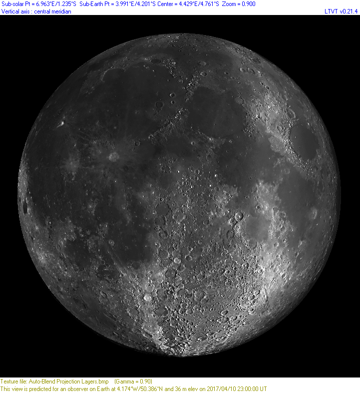 Lunar Terminator Visualisation tool - Imaging - Lunar