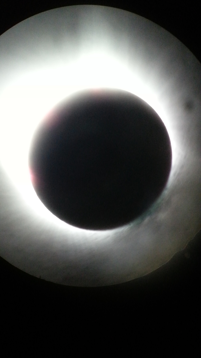 Totality through my Meade ETX 90 with no filters