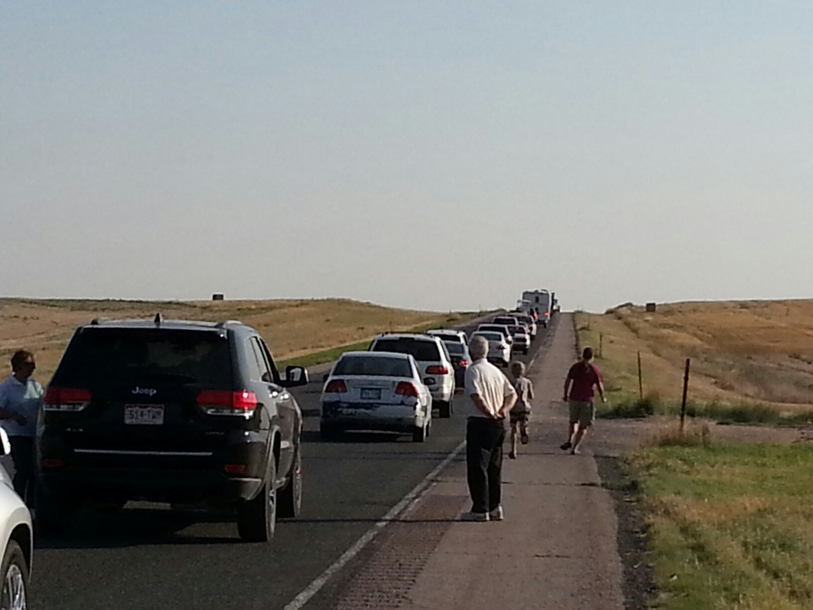 Horrendous traffic after the eclipse