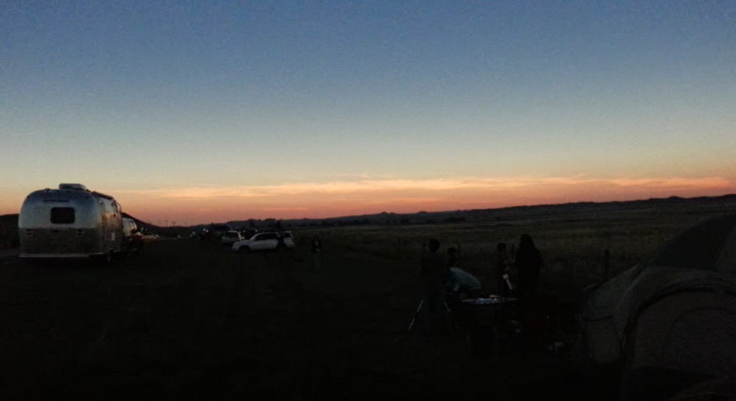 Darkness during totality